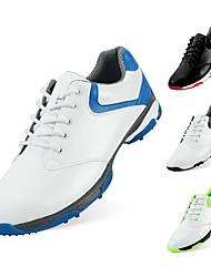 cheap -Men's Golf Shoes Rubber Breathable Golf Cushioning Nappa Leather Cowhide Blue and White Black and White Green