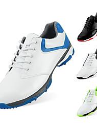Недорогие -Муж. Обувь для игры в гольф Резина Дышащий Гольф Амортизация Наппа Leather Кожа Синий с белым Черно-белый Зеленый