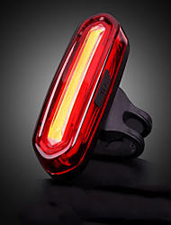 cheap -LED Bike Light Rear Bike Tail Light Safety Light Mountain Bike MTB Bicycle Cycling Waterproof Portable Alarm Warning USB Lithium Battery 120 lm Built-in Li-Battery Powered Camping / Hiking / Caving