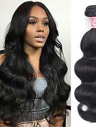Недорогие -6 Связок Бразильские волосы Естественные кудри человеческие волосы Remy 300 g Человека ткет Волосы Пучок волос One Pack Solution 8-28inch Естественный цвет Ткет человеческих волос / Необработанные