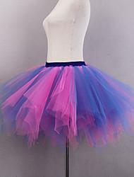 cheap -Ballet Classic Lolita 1950s Dress Petticoat Hoop Skirt Crinoline Women's Girls' Tulle Costume White+Red / Red+Black / RedYellow Vintage Cosplay Wedding Party Princess