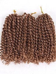 cheap -Braiding Hair Curly Extension Twist Braids Afro Kinky Braids Synthetic Hair 3 Pieces Hair Braids Light Brown Natural Color 8 inch Synthetic Best Quality Crochet Braids Christmas Gifts Halloween