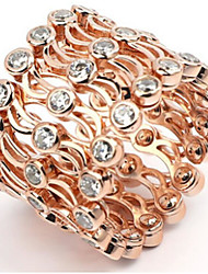 cheap -Women Adjustable Ring Classic Rose Gold Gold Gold Plated Joy Stylish 1pc Adjustable / Women's