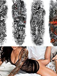 Недорогие -4 pcs Временные татуировки Экологичные / Одноразового использования Корпус / плечо / назад Картон