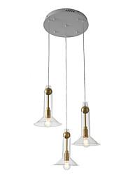 cheap -ZHISHU 3-Light 48 cm WIFI Control Pendant Light Metal Glass Sputnik Industrial Novelty Electroplated Contemporary Chic & Modern 110-120V 220-240V