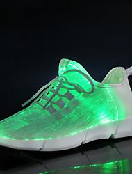 cheap -Boys' / Girls' LED / LED Shoes / USB Charging Knit Sneakers Toddler(9m-4ys) / Little Kids(4-7ys) / Big Kids(7years +) Walking Shoes LED / Luminous Fiber Optic Shoes White / Black / Pink Spring / Fall