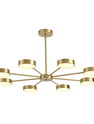 cheap -ZHISHU 8-Light 86 cm Chandelier Copper Sputnik / Industrial Brass Contemporary / Chic & Modern 110-120V / 220-240V