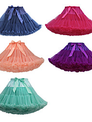 cheap -Princess Skirt Party Costume Tutu Vintage 1950s Tulle Black And White Black and Red Purple Petticoat / Under Skirt / Crinoline