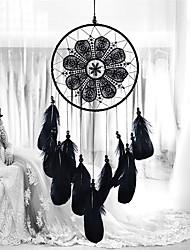 abordables -capteurs de rêve à la main avec plume Tenture murale décoration de la maison ornement décor ornement