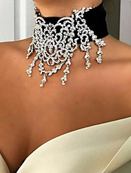 cheap -Women's Choker Necklace Luxury Fabric Imitation Diamond Gold Silver 30 cm Necklace Jewelry 1pc For Wedding Club