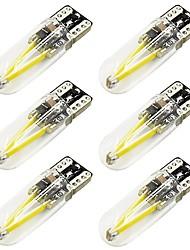 Недорогие -6шт T10 Автомобиль Лампы 2 W COB 170 lm 2 Светодиодная лампа Подсветка для номерного знака / Задний свет / Боковые габаритные огни Назначение Универсальный Все года