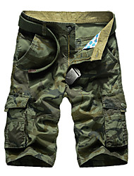 """cheap -Men's Hiking Shorts Hiking Cargo Shorts Camo Summer Outdoor 10"""" Relaxed Fit Comfortable Multi-Pocket Wear Resistance Cotton Pants / Trousers Camping / Hiking Fishing Camping / Hiking / Caving Army"""
