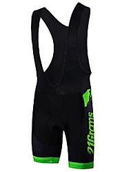 cheap -Malciklo Men's Cycling Bib Shorts Bike Bib Shorts Reflective Strips Sports Green / Black Road Bike Cycling Clothing Apparel Race Fit Bike Wear / Stretchy / Italian Ink