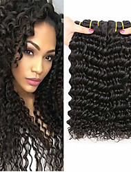 cheap -3 Bundles Mongolian Hair Deep Wave 100% Remy Hair Weave Bundles Natural Color Hair Weaves / Hair Bulk Human Hair Extensions Weave 8-28 inch Natural Color Human Hair Weaves Classic Best Quality Hot