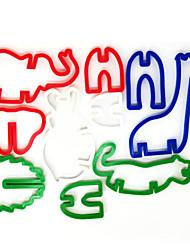 Недорогие -Джунгли животных пластиковых торт плесень печенья помадка бисквитный штамп