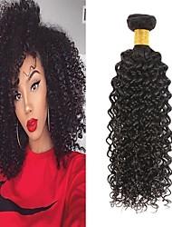 cheap -6 Bundles Brazilian Hair Kinky Curly Remy Human Hair Natural Color Hair Weaves / Hair Bulk Bundle Hair One Pack Solution 8-28inch Natural Color Human Hair Weaves Waterfall Cute Safety Human Hair