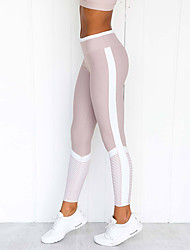 cheap -Women's High Waist Running Tights Leggings Compression Pants Athleisure Tights Leggings Winter Fitness Gym Workout Performance Running Training Tummy Control Butt Lift Breathable Sport Light Purple
