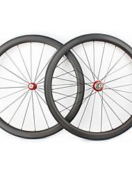 cheap -FARSPORTS 700CC Wheelsets Cycling 28 mm Road Bike Carbon Fiber Clincher 20/24 Spokes 45 mm