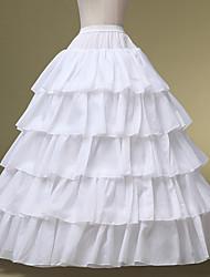 cheap -Bride Classic Lolita 1950s Layered Dress Petticoat Hoop Skirt Crinoline Women's Girls' Costume White Vintage Cosplay Wedding Party Princess