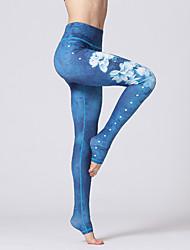 abordables -Femme Pantalon de yoga Couleur unie Elasthanne Course / Running Fitness Entraînement de gym 3/4 Pantacourt Tenues de Sport Séchage rapide Butt Lift Contrôle du Ventre Power Flex Elastique Slim