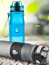 cheap -Sports Water Bottle Water Bottle 600 ml PP Portable for Cycling / Bike Camping / Hiking / Caving Traveling Black Green Blue Pink