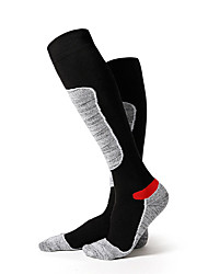 cheap -Hiking Socks Long Socks Knee high Socks 1 Pair Windproof Stretchy Cotton Autumn / Fall for Men's Women's Skiing Climbing Black / Winter / Winter
