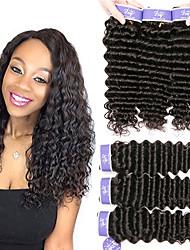 Недорогие -6 Связок Малазийские волосы Крупные кудри Необработанные натуральные волосы 100% Remy Hair Weave Bundles 300 g Головные уборы Человека ткет Волосы One Pack Solution 8-28 дюймовый Естественный цвет