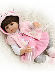 """cheap -NPK DOLL 18 inch Reborn Doll Baby Newborn lifelike Cute Hand Made Child Safe Full Body Silicone 18"""" with Clothes and Accessories for Girls' Birthday and Festival Gifts / Non Toxic / Lovely / Kid's"""