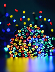 cheap -15m String Lights 100 LEDs 1Set Mounting Bracket 1 set Warm White / Cold White / RGB Waterproof / Solar / Party Solar Powered