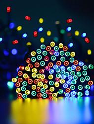 Недорогие -50m Гирлянды 500 светодиоды 1 монтажный кронштейн Тёплый белый / Холодный белый / RGB Водонепроницаемый / Работает от солнечной энергии / Для вечеринок Солнечная энергия 1 комплект