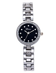 cheap -Women's Quartz Watches Casual New Arrival Rose Gold Alloy Chinese Quartz White Black Rose Gold Casual Watch Punk Lovely 30 m Analog One Year Battery Life