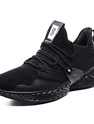 cheap -Men's Comfort Shoes Knit Fall / Spring & Summer Sporty / Preppy Athletic Shoes Running Shoes Breathable Black / Green / Gray / Non-slipping / Shock Absorbing