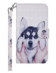 cheap -Case For Nokia Nokia 7.1 / Nokia 6 2018 / Nokia 5 Wallet / Card Holder / with Stand Full Body Cases Dog Hard PU Leather