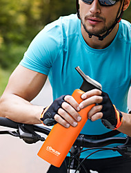 cheap -Sports Water Bottle 750 ml Stainless steel Insulated Durable Ultra Light (UL) for Hiking Cycling / Bike Camping Black White Orange Blue