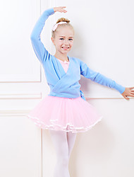 cheap -Kids' Dancewear / Ballet Tops Girls' Training / Performance Orlon Cinch Cord Long Sleeve Natural Top