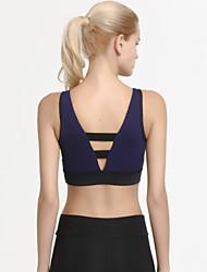 cheap -Women's Sports Bra Top Sports Bra Bralette Patchwork Yoga Running Fitness Quick Dry Sweat-wicking Black Black / Blue White+Gray Fashion / Micro-elastic