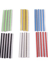 cheap -40 pin Breakable Pin Header 2.54mm Single Row Male Header Connector Kit PCB Pin Strip for Arduino (Pack of 30)
