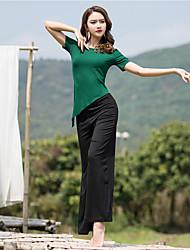 cheap -Activewear Top Ruching Women's Performance Short Sleeve Natural Modal
