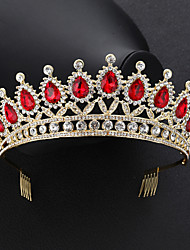 cheap -Baroque Luxury Vintage Queen Princess Crown Crystal Alloy Tiaras with Crystal 1 Piece Wedding Special Occasion Headpiece