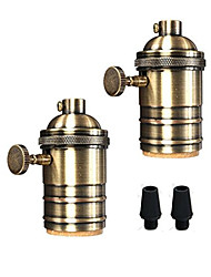 cheap -OYLYW 2pcs E26 / E27 100-240 V DIY  Bulb Accessory Aluminum Light Bulb Socket