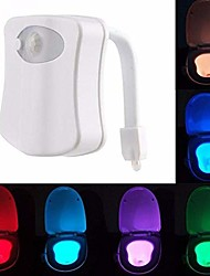 cheap -1pc LED Color-changing AAA Batteries Powered  Motion Activated Toilet Night Light Bathroom Washroom 5V