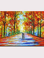 cheap -Oil Painting Hand Painted - Abstract Abstract Landscape Classic Modern Stretched Canvas