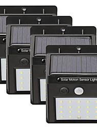 cheap -4pcs 5W Solar Wall Light Waterproof  Solar  Motion Detection Monitor White 5.5V Outdoor Lighting  Courtyard  Garden 20 LED Beads