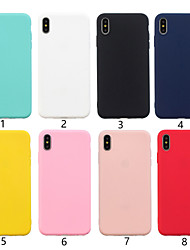 cheap -Case For Apple iPhone XS / iPhone XR / iPhone XS Max Ultra-thin Back Cover Solid Colored Soft TPU