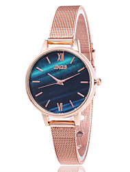 cheap -Women's Quartz Watches Quartz Stylish Casual Water Resistant / Waterproof Stainless Steel Rose Gold Analog - White Blue Blushing Pink