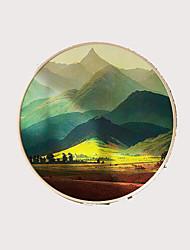 Недорогие -обрамленная картина маслом абстрактная металлическая круглая форма обрамленная стена