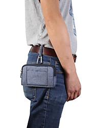 cheap -Case For BlackBerry / Apple / Samsung Galaxy Universal Card Holder Waist Bag / Waistpack Solid Colored Soft Textile