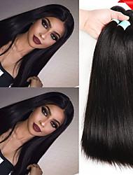 cheap -6 Bundles Indian Hair Straight Unprocessed Human Hair Natural Color Hair Weaves / Hair Bulk Bundle Hair One Pack Solution 8-28 inch Natural Color Human Hair Weaves Life Soft Thick Human Hair