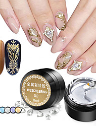 cheap -Nail Polish UV Gel  8000 ml 1 pcs Metallic / Trendy Soak off Long Lasting  Special Occasion / Sweet 16 / Party & Evening Metallic / Trendy Fashionable Design / Mirrored / Colorful