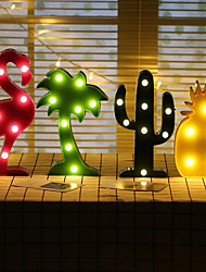 cheap -1pc Led Night Light 3D Lamp Novelty Luminaria Flamingo Cactus Nightlight Marquee Letter For Children Decor Excluding Batteries
